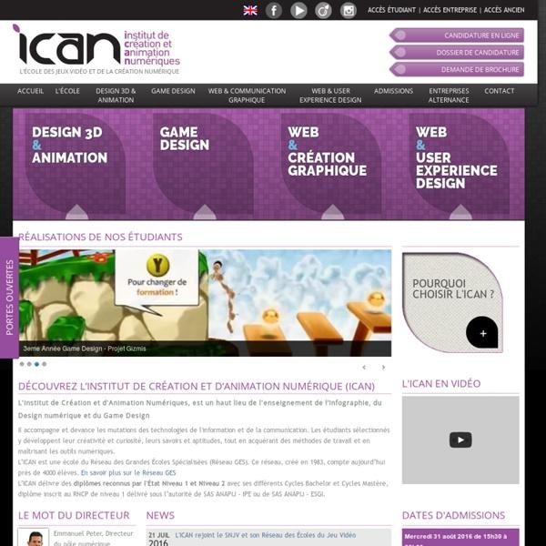 La grande école d'infographie parisienne - ICAN Design