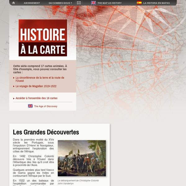Les Grandes Découvertes - Histoire à la carte