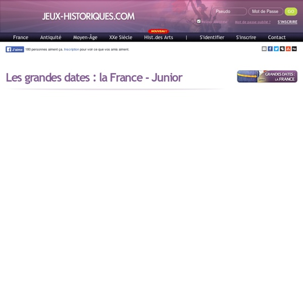 Jeu quizz Les grandes dates : la France