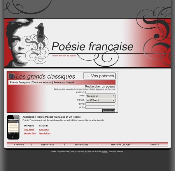 Les grands poèmes classiques - Poésie française - Tous les poèmes - Tous les poètes