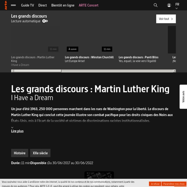 Les grands discours : Martin Luther King - I Have a Dream