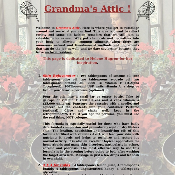Granma's Attic ...Old Time Beauty and Health Tips