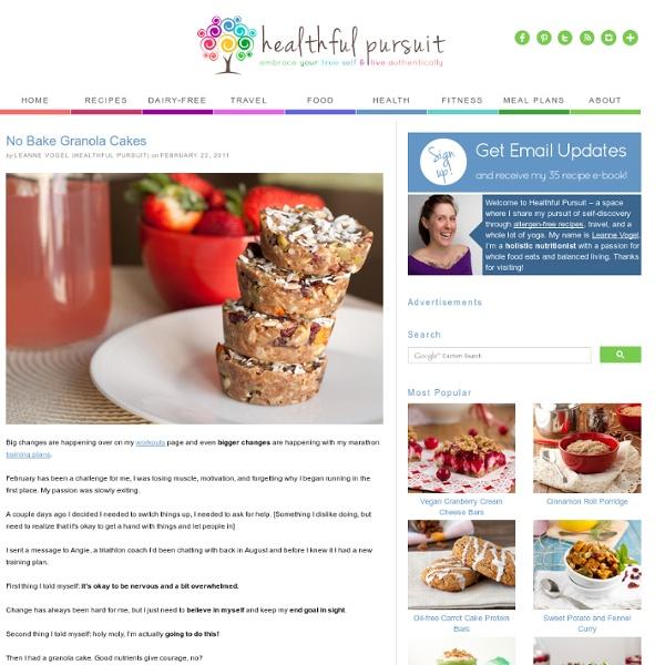 No Bake Granola Cakes — Healthful Pursuit - StumbleUpon