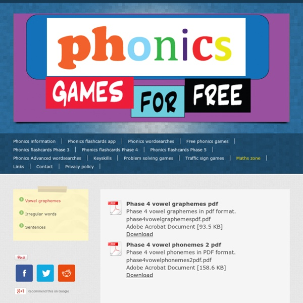 Vowel graphemes - Free online phonics games and flashcards