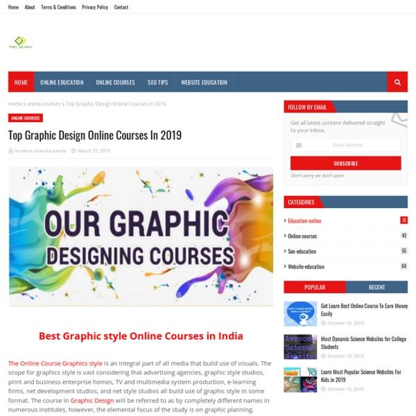 Top Graphic Design Online Courses In 2019