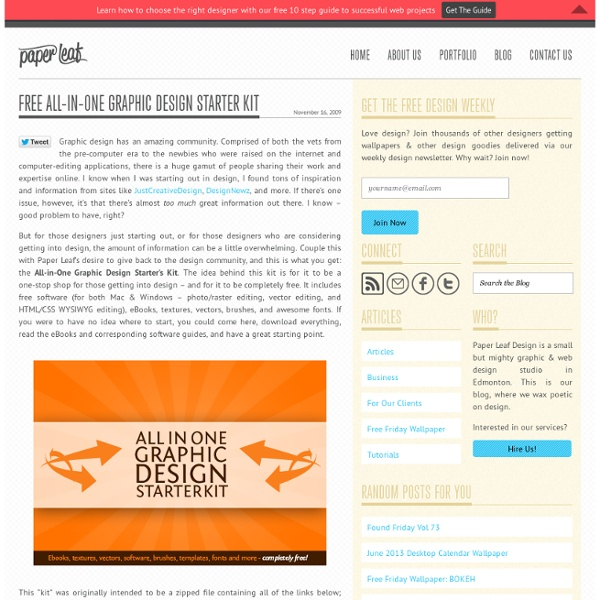 Free All-in-One Graphic Design Starter Kit