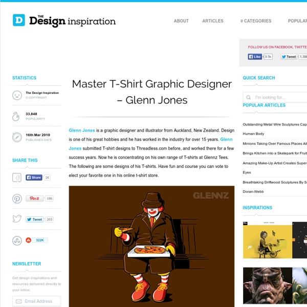 Master T-Shirt Graphic Designer – Glenn Jones