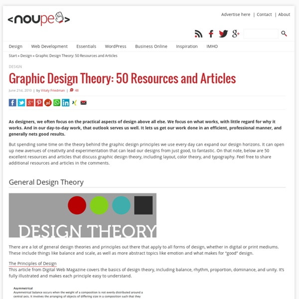 Graphic Design Theory: 50 Resources and Articles