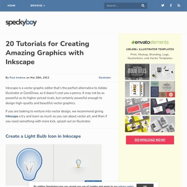 35 Vector Graphic Tutorials using Inkscape