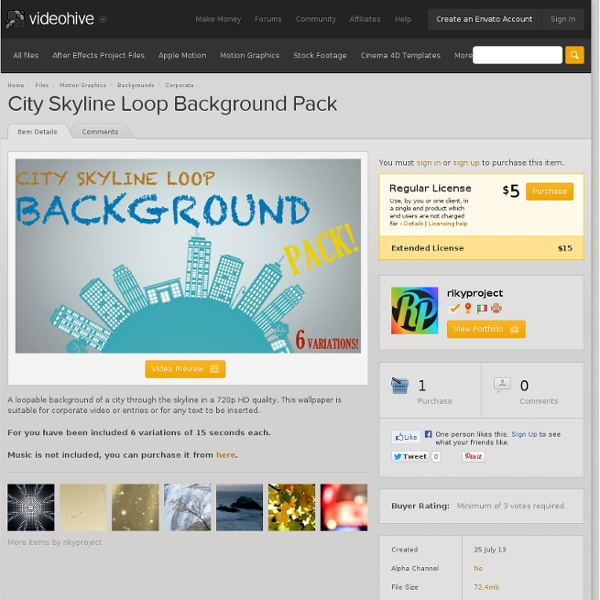 City Skyline Loop Background Pack