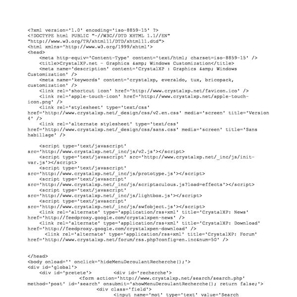 CrystalXP.net - Graphisme & Personnalisation de Windows