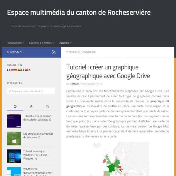 Créer un graphique géographique avec Google Drive
