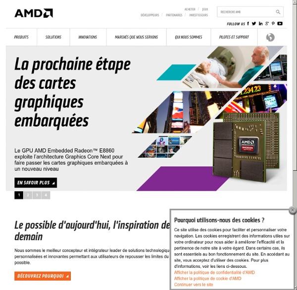 Cartes graphiques, processeurs et solutions média innovants - AMD