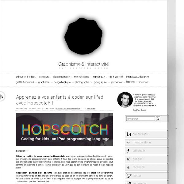 Apprenez à vos enfants à coder sur iPad avec Hopscotch