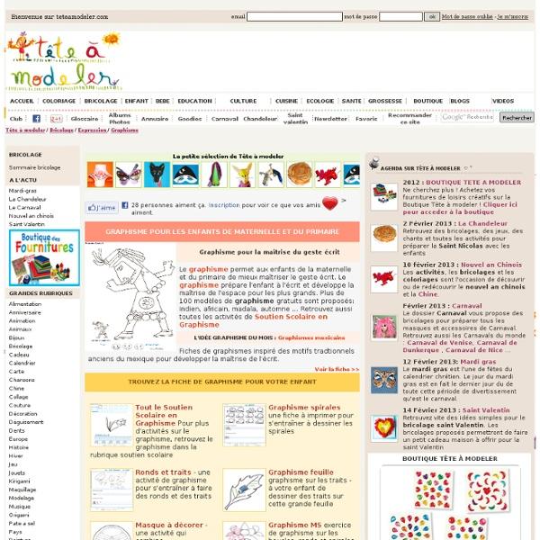 Populaire Graphisme pour les enfants de maternelle et du primaire  MM16