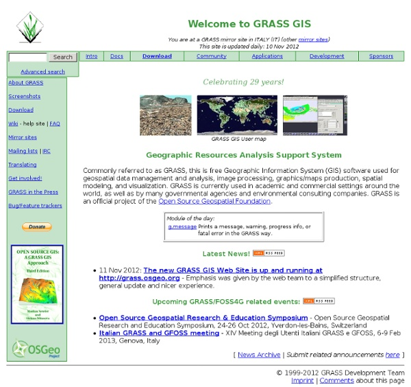 GRASS GIS - The World Leading Free Software GIS