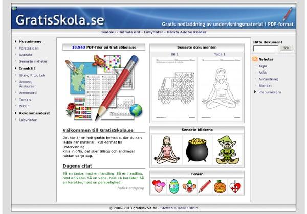 GratisSkola.se: Välkommen till GratisSkola.se