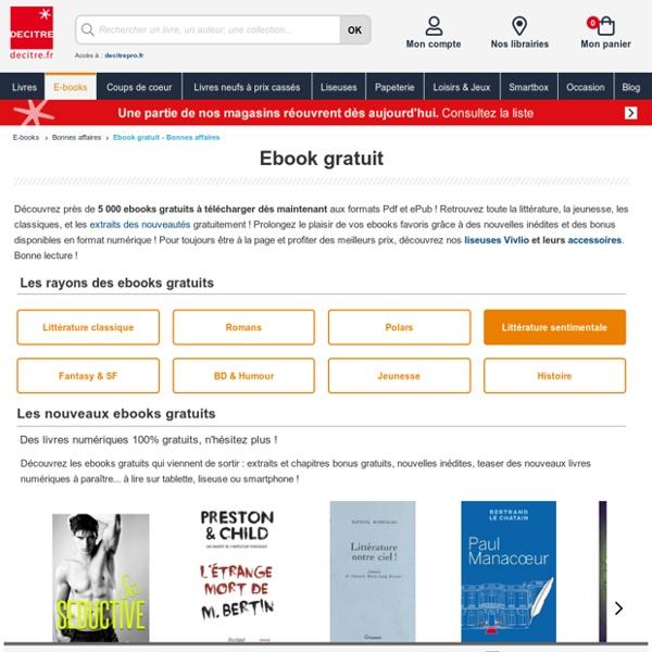 Ebooks gratuits à télécharger - Livres numériques Pdf et ePub - Decitre.fr