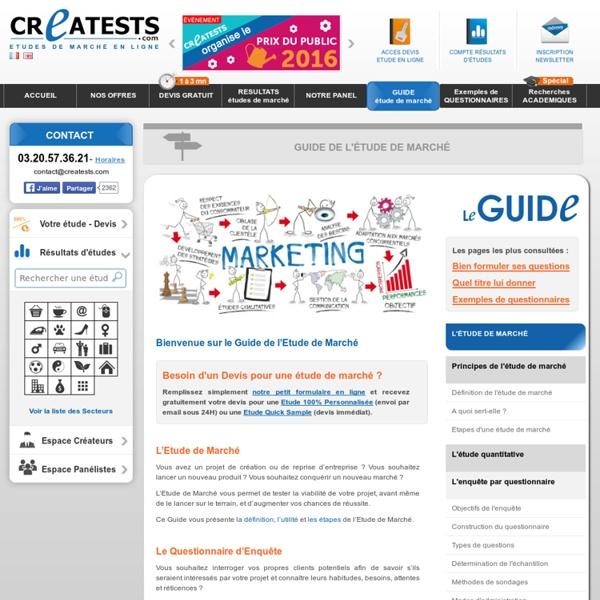 Guide Gratuit Etude de marché - Comment Faire une enquête ? - Creatests