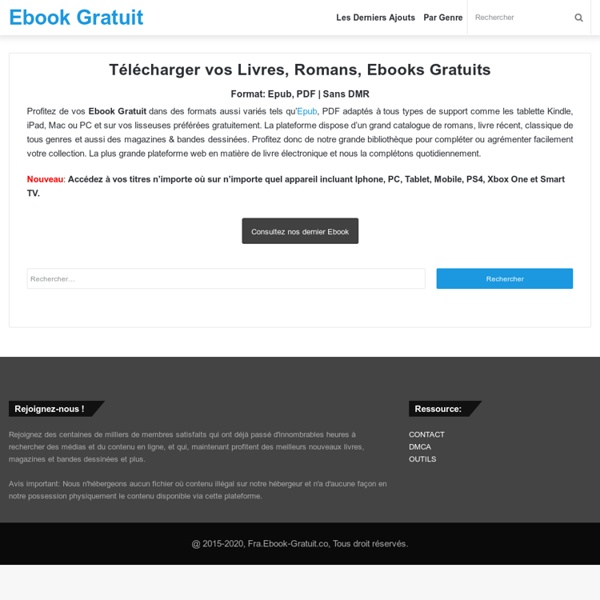 Ebooks Gratuits - Télécharger vos Livres EPUB - PDF en Libre Partage