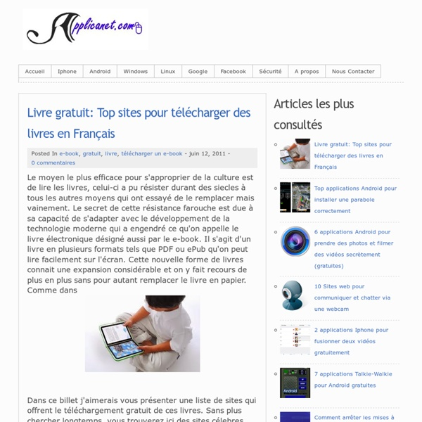 livre gratuit top sites pour t l charger des livres en fran ais pearltrees. Black Bedroom Furniture Sets. Home Design Ideas