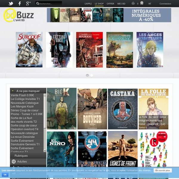 BdBuzz l'appli gratuite BD Comics Manga collection et numérique