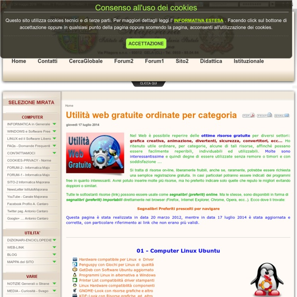 Utilità web gratuite ordinate per categoria