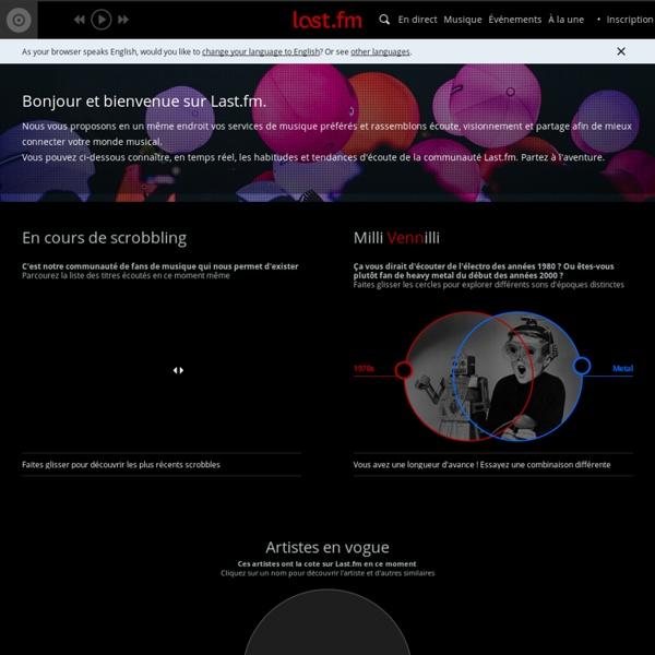 Last.fm : catalogue de musique en ligne