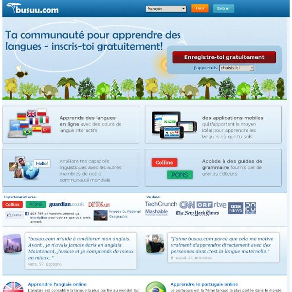 Inscris-toi gratuitement sur busuu.com - la communauté pour apprendre les langues!