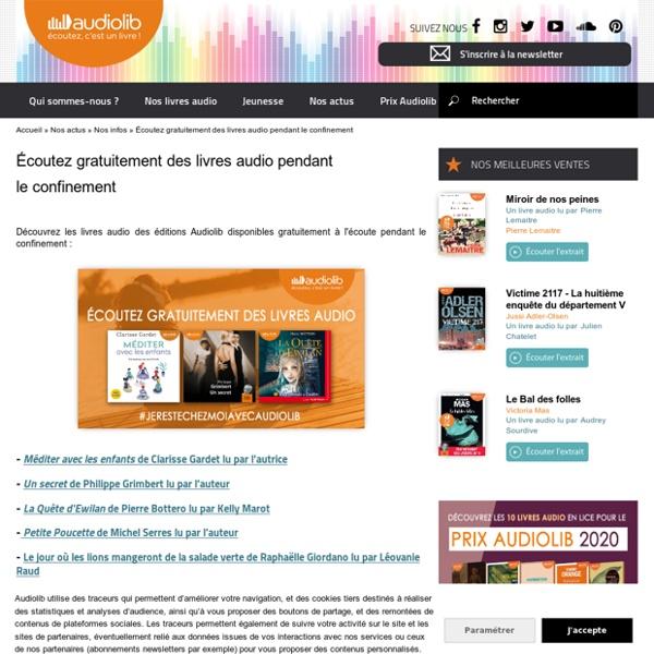 Audiolib : des livres audio gratuits pendant le confinement
