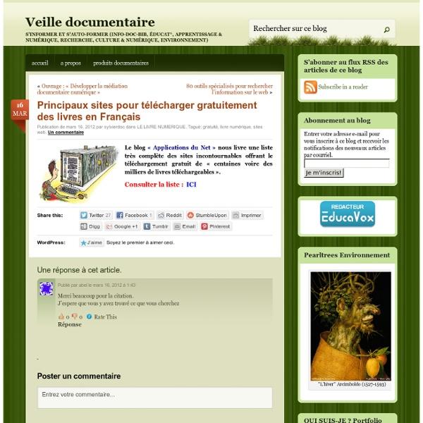 Principaux sites pour télécharger gratuitement des livres en Français
