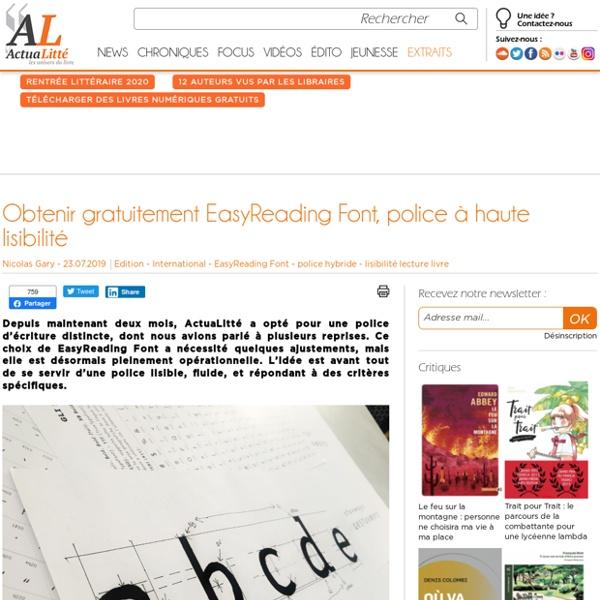 EasyReading Font, police à haute lisibilité - à télécharger