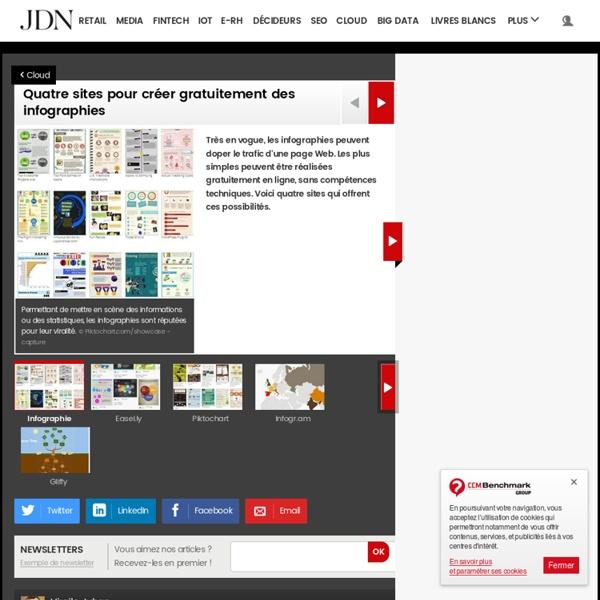 Quatre sites pour créer gratuitement des infographies