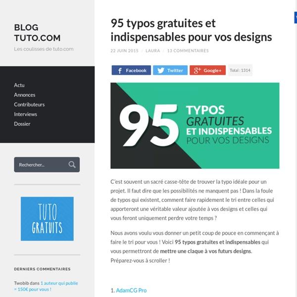 95 typos gratuites et indispensables pour vos designs