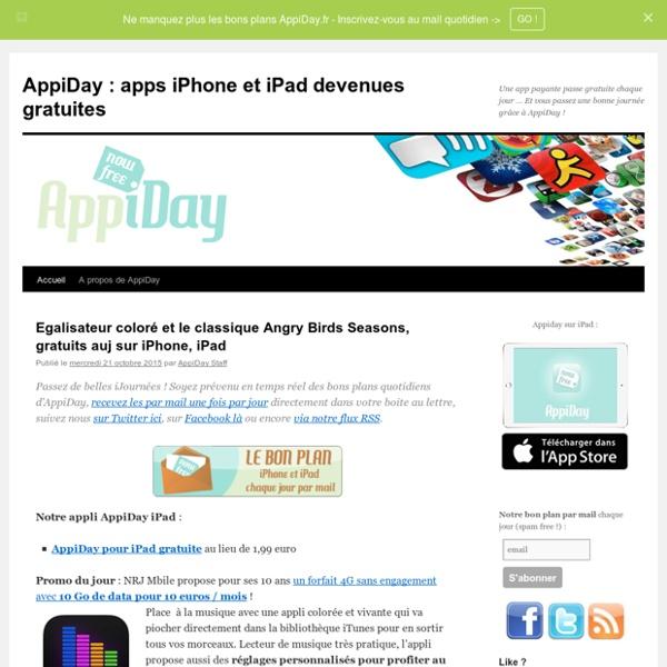 Appiday : App gratuites temporairement