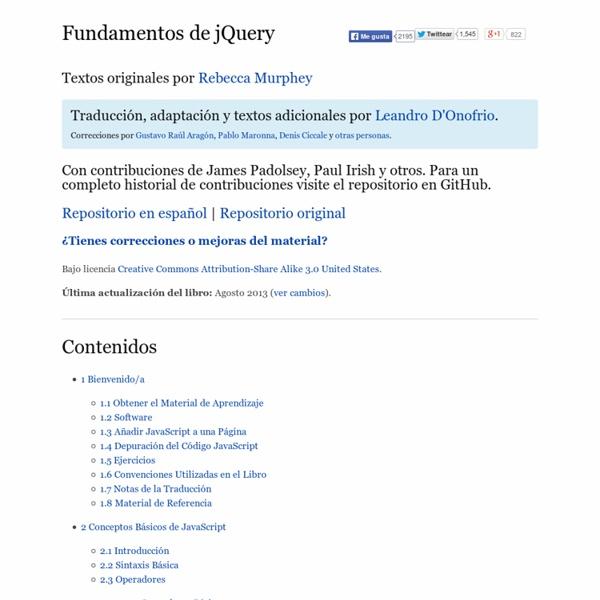 Libro gratuito de jQuery en español - Fundamentos de jQuery
