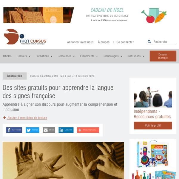 Des sites gratuits pour apprendre la langue des signes française - Thot Cursus