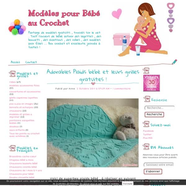 Modèles pour Bébé au Crochet - Partage de modèles gratuits , trouvés sur le n...