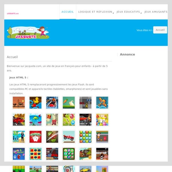 Jeux gratuits en ligne pour enfants de 4 à 10 ans- jacquote.com