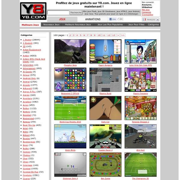 Y8.com - Jeux Flash Gratuits - Jouez à vos jeux favoris en ligne dès maintenant!