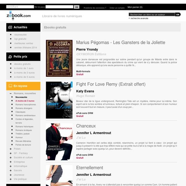 Ebooks gratuits - Zebook.com - Librairie de livres numériques - ePub et PDF