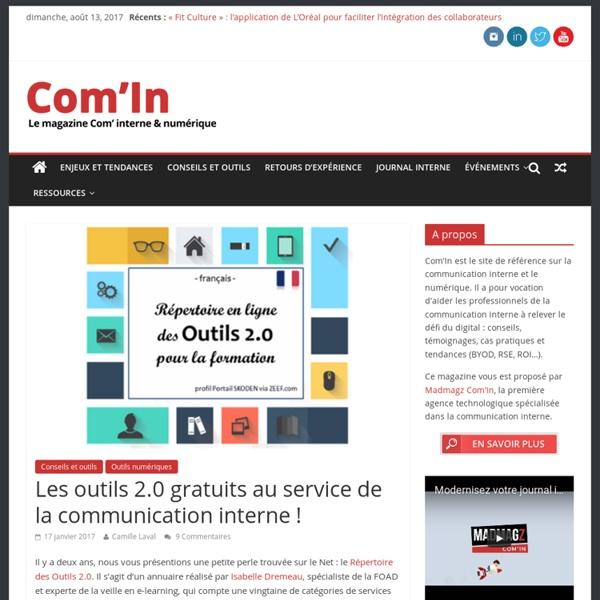 Les outils 2.0 gratuits au service de la communication interne ! - Com'In