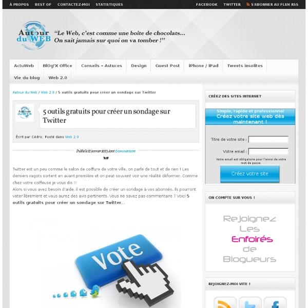 5 outils gratuits pour créer un sondage sur Twitter
