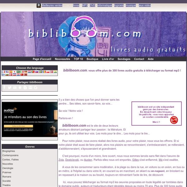 Bibliboom.com - Livres audio gratuits à télécharger - Livre audio gratuit à télécharger - mp3