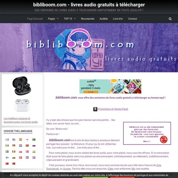 Bibliboom.com : Livres audio gratuits à télécharger au format mp3