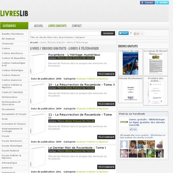 Livres / Ebooks Gratuits - Libres à Télécharger