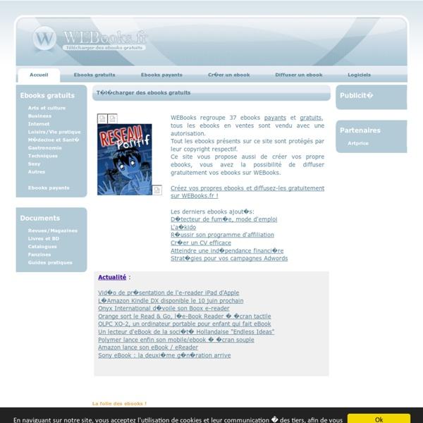 Ebooks gratuits - Télécharger des ebooks gratuits avec WEBooks.fr