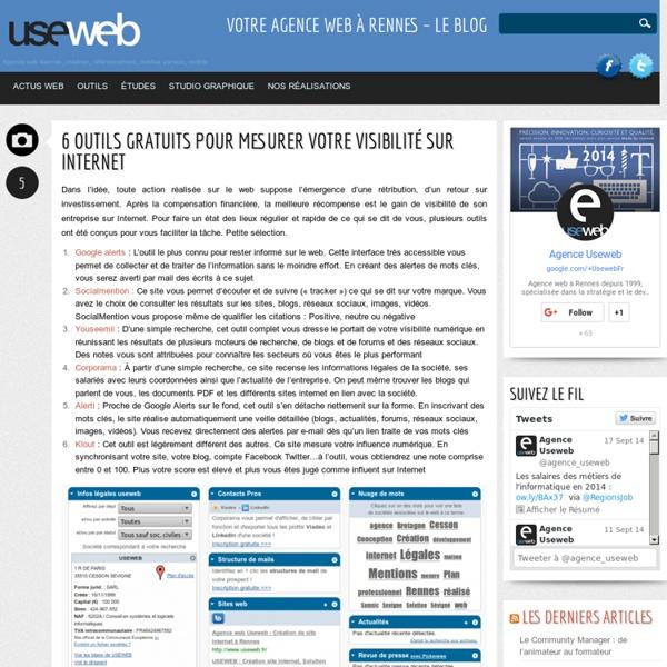 6 outils gratuits pour mesurer votre visibilité sur Internet