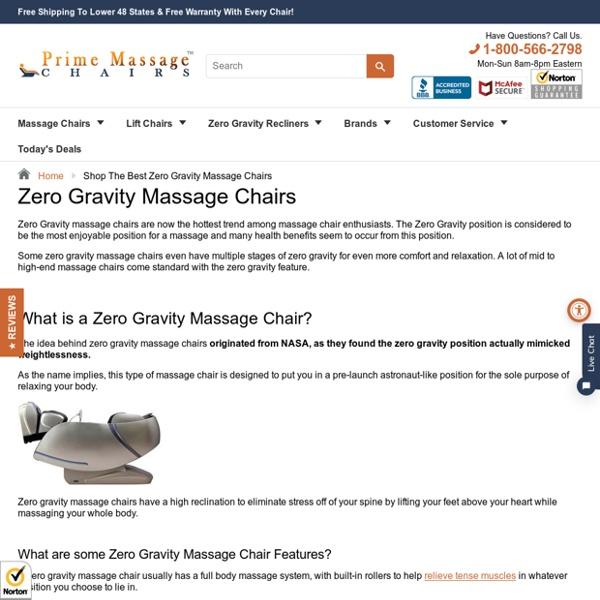 Shop The Best Zero Gravity Massage Chairs – Prime Massage Chairs