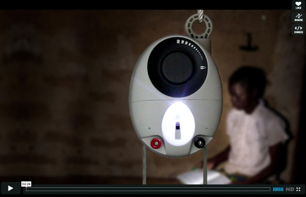 GravityLight: lighting for the developing countries